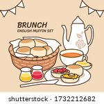 full brunch collection  english ... | Shutterstock .eps vector #1732212682