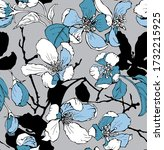 seamless wallpaper pattern.... | Shutterstock .eps vector #1732215925