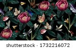 colourful pattern with big... | Shutterstock .eps vector #1732216072