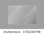 flat glass plates set. windows... | Shutterstock .eps vector #1732230748