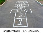 Playing Hopscotch On The...