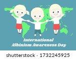 albino children holding hands ... | Shutterstock .eps vector #1732245925