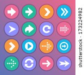 flat and round arrow icons | Shutterstock .eps vector #173224982