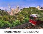 victoria peak tram and hong... | Shutterstock . vector #173230292