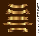 set of golden ribbons vector. | Shutterstock .eps vector #1732314175