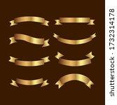 set of golden ribbons vector. | Shutterstock .eps vector #1732314178