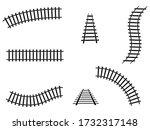 Train Tracks Set Vector...