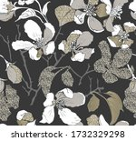 seamless wallpaper pattern....   Shutterstock .eps vector #1732329298