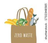 zero waste logo template. eco... | Shutterstock .eps vector #1732348585