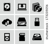 data storage icons | Shutterstock .eps vector #173235056