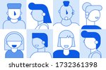 people faces avatar template... | Shutterstock .eps vector #1732361398