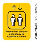 maximum people allowed in the... | Shutterstock .eps vector #1732405078