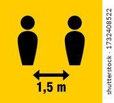 social distancing keep your... | Shutterstock .eps vector #1732408522