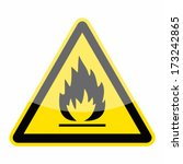 Fire Warning Sign  Triangle...