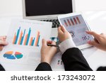 close up of  business team... | Shutterstock . vector #173243072