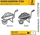wheelbarrow premium icon with...