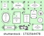 set of ornate frames and...   Shutterstock . vector #1732564478