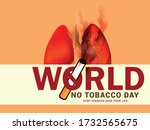 world no tobacco day poster or... | Shutterstock .eps vector #1732565675