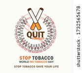 world no tobacco day poster or... | Shutterstock .eps vector #1732565678