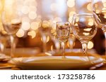 beautifully served table in a... | Shutterstock . vector #173258786