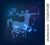 sagittarius   constellation of... | Shutterstock .eps vector #1732619108