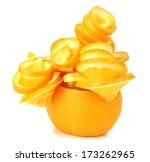 Carving Orange Tree Isolated On ...