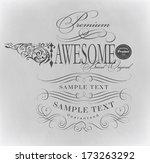 calligraphic design elements | Shutterstock .eps vector #173263292