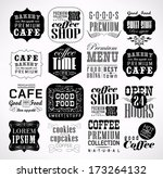 retro coffee  labels and... | Shutterstock .eps vector #173264132