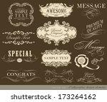 calligraphic design elements... | Shutterstock .eps vector #173264162
