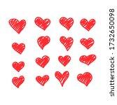 set of vector drawings of... | Shutterstock .eps vector #1732650098