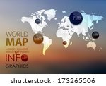 polygonal world map and... | Shutterstock .eps vector #173265506