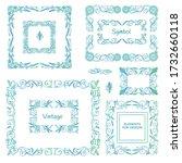 vector set of calligraphic... | Shutterstock .eps vector #1732660118