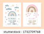 a set of children's posters ... | Shutterstock .eps vector #1732709768