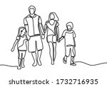 continuous single line drawing... | Shutterstock .eps vector #1732716935