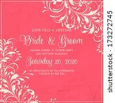 wedding invitation card | Shutterstock .eps vector #173272745
