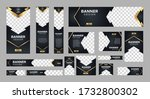set of creative web banners of... | Shutterstock .eps vector #1732800302