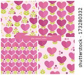 cute seamless patterns for... | Shutterstock .eps vector #173280332