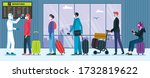 airport health security for... | Shutterstock .eps vector #1732819622