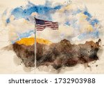 Watercolor Painting Of The...