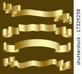 gold ribbons and banners | Shutterstock .eps vector #17329258