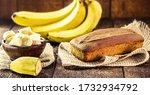 Homemade Banana Cake  With...
