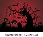 graveyard scene vector... | Shutterstock .eps vector #17329363