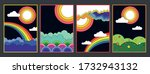 psychedelic art style... | Shutterstock .eps vector #1732943132