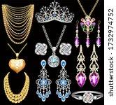 Illustration Of A Jewelry Set...