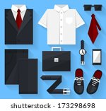 flat business collection dress. ... | Shutterstock .eps vector #173298698