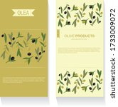 vector banner with olives and... | Shutterstock .eps vector #1733009072