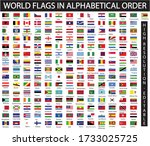 world flags in alphabetical... | Shutterstock .eps vector #1733025725