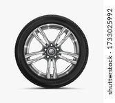front view of car wheel...   Shutterstock .eps vector #1733025992
