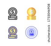 coin icon design for your web...