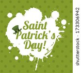 saint patrick day over green... | Shutterstock .eps vector #173306942
